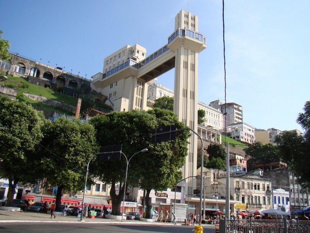 Elevador Lacerda en Salvador de Bahía