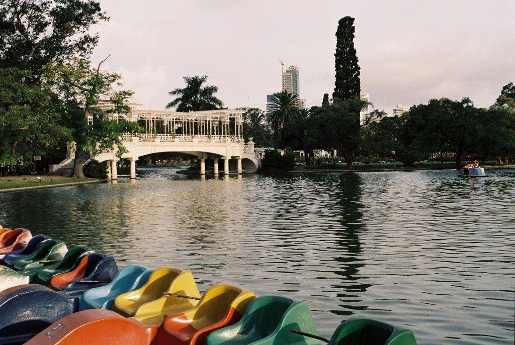 Lago en los bosques de Palermo, Buenos Aires