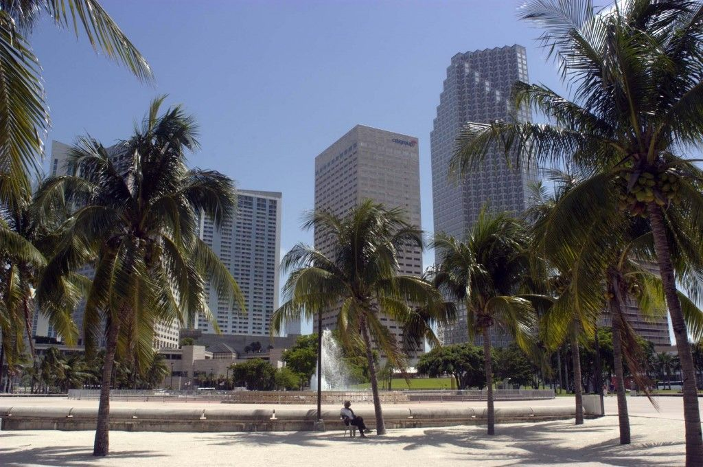 Miami downtown desde la Playa