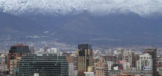 Cordillera de fondo en Santiago de Chile