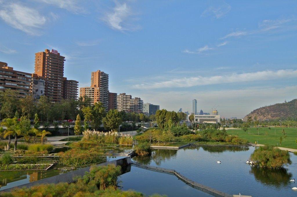 Parque Bicentenario en Santiago de Chile