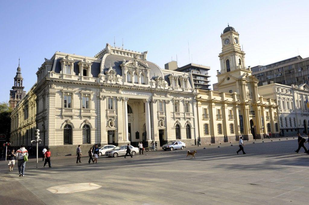 Plaza de armas en Santiago de Chile