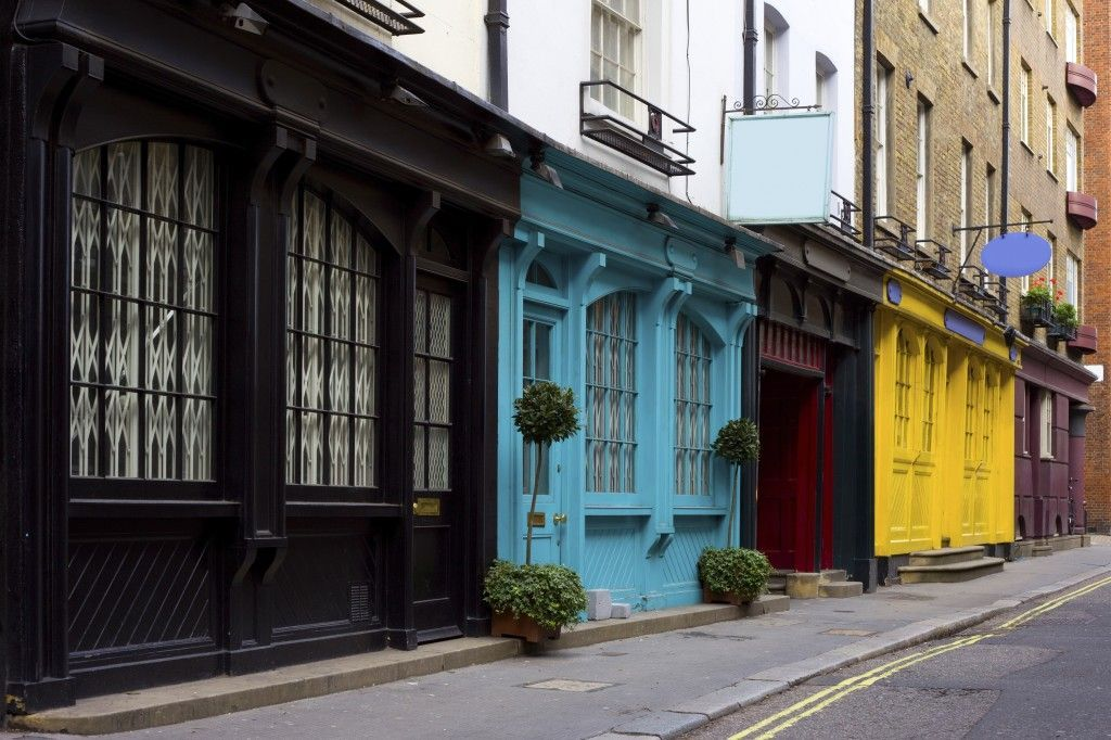 Barrio antiguo en Londres