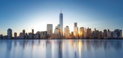 Skyline de Manhattan al anochecer