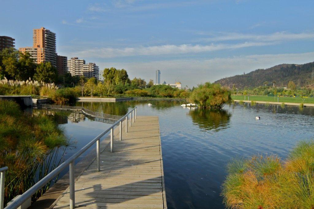 Parque del Bicentenario en Santiago de Chile