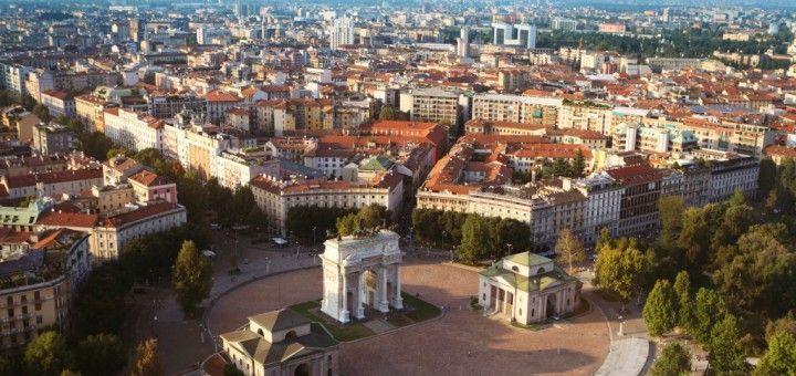 Vista aérea de Milan