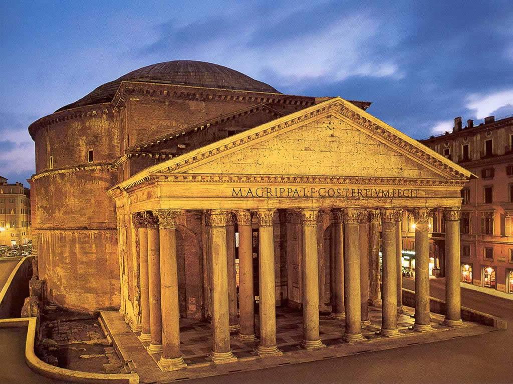 Vista exterior del Panteón de Roma o Panteón de Agripa
