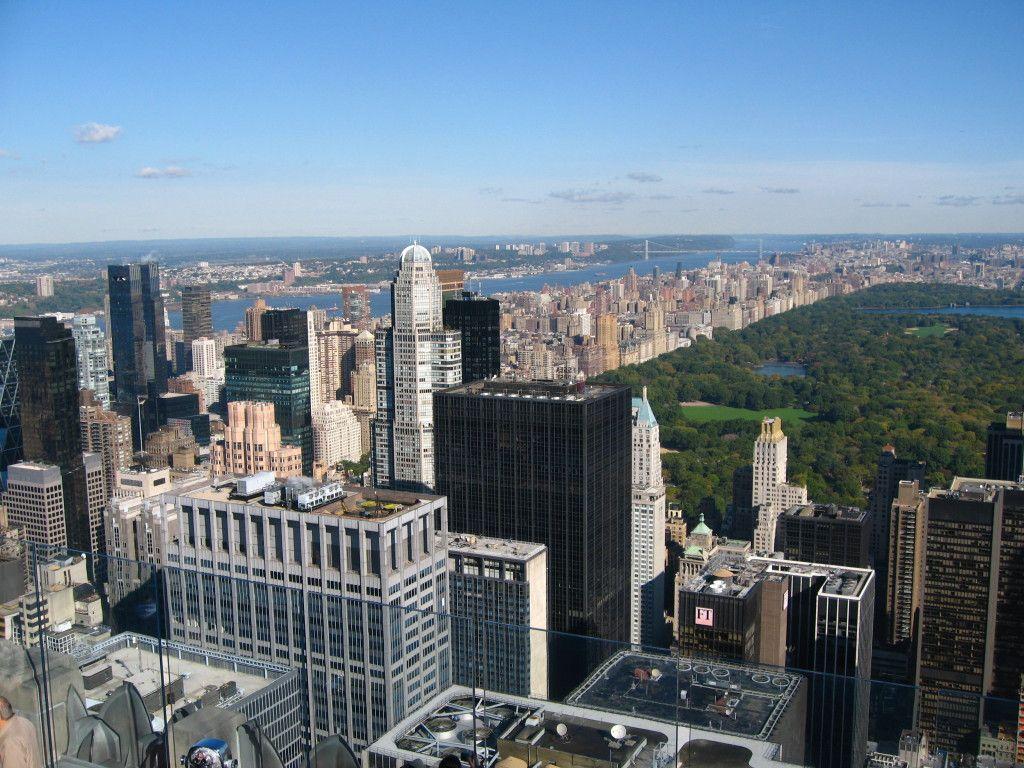 Vista aérea de Central Park y la ciudad de Nueva York