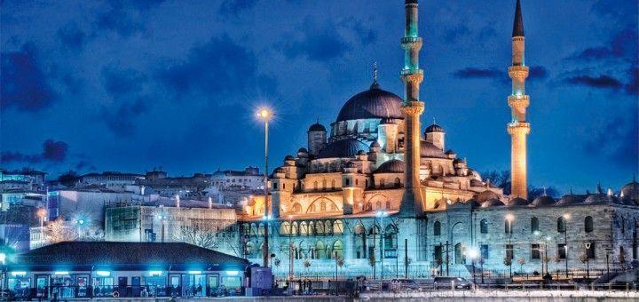 La mezquita azul tan característica de Estambul