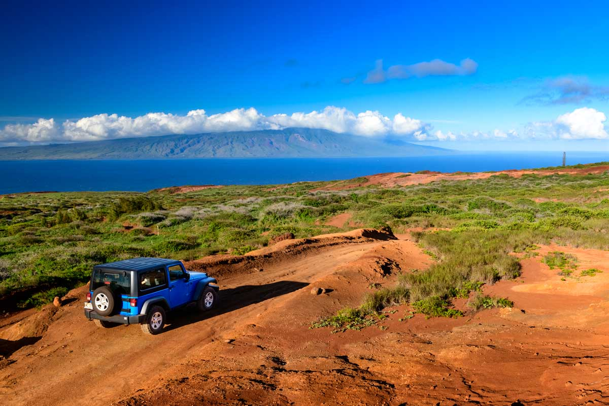 La bella isla de Lanai en Hawaii, ideal para aventuras en 4x4