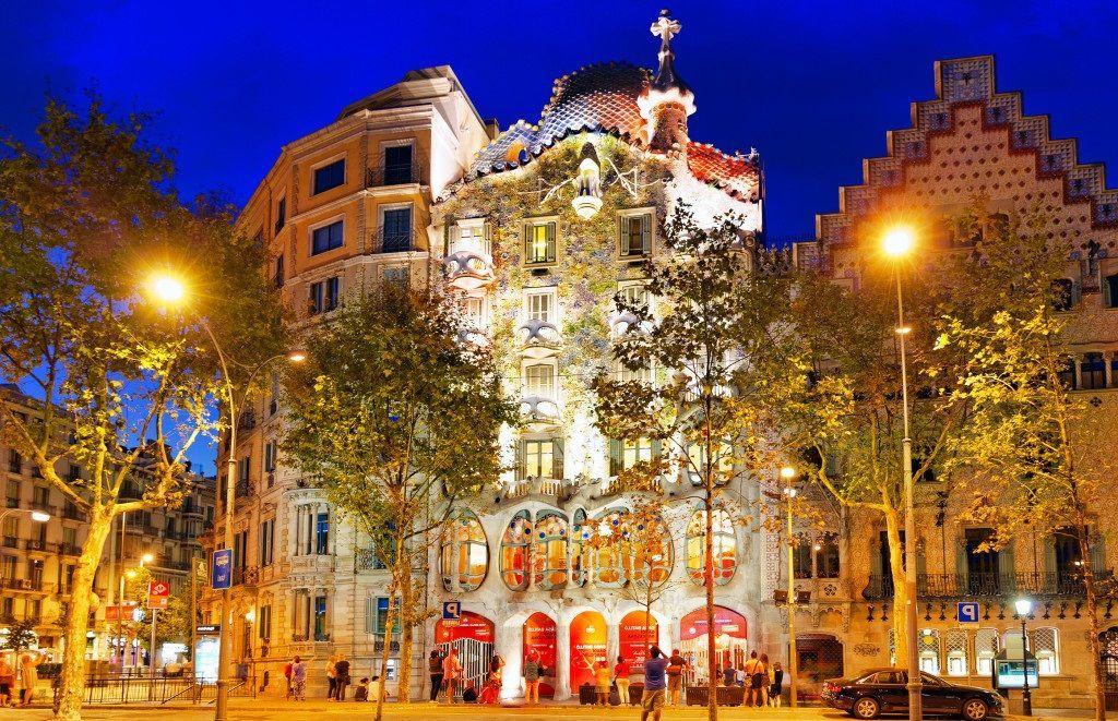 Casa Battló, de Gaudi, en Barcelona
