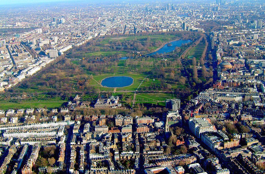 Vista aerea del Hyde Park en Londres