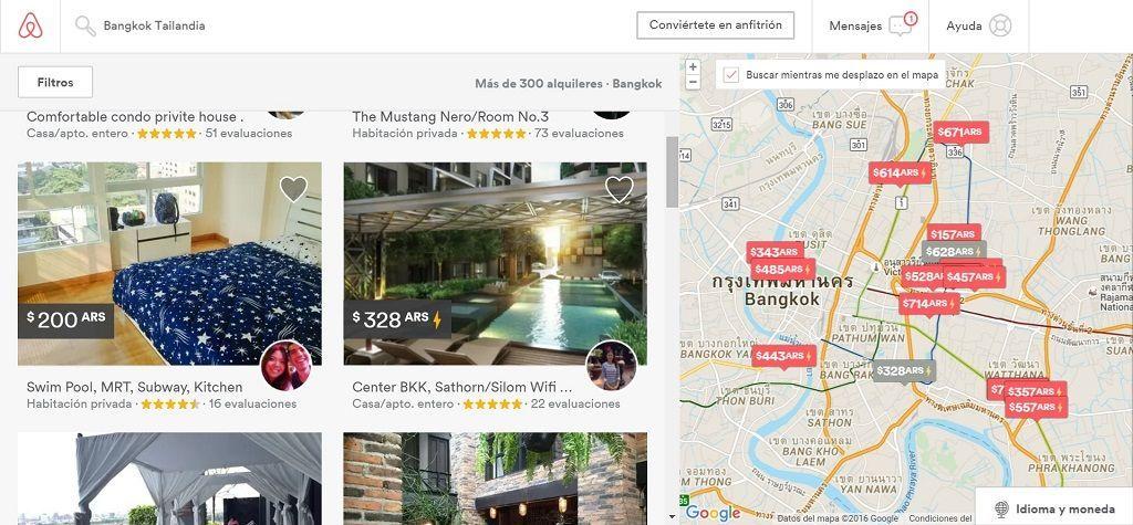 Busqueda de alojamiento en airbnb
