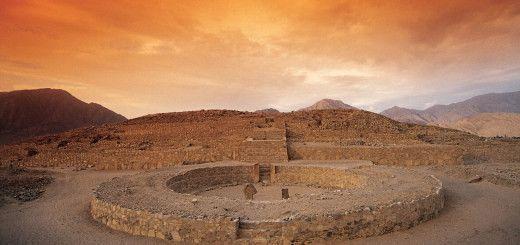Ruinas del Caral en Perú