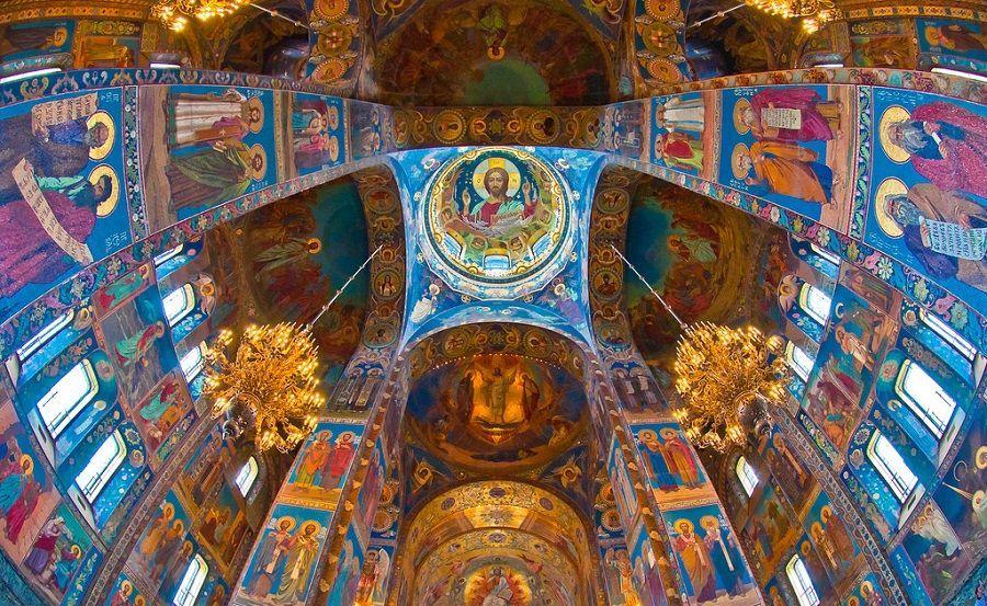 Mosaicos del interior de la Catedral de la Resurrección