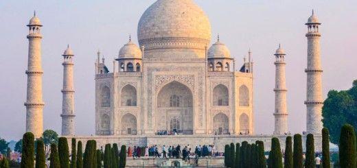 Taj-Mahal. Vista Externa del Mausoleo