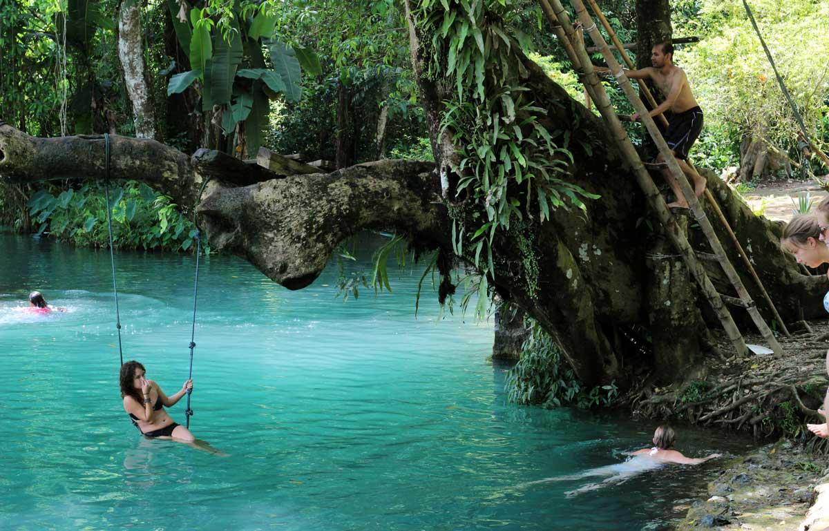 La Blue Lagoon en Vang Vieng, Laos