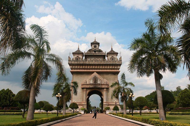 Patuxai en Vientiane, Laos