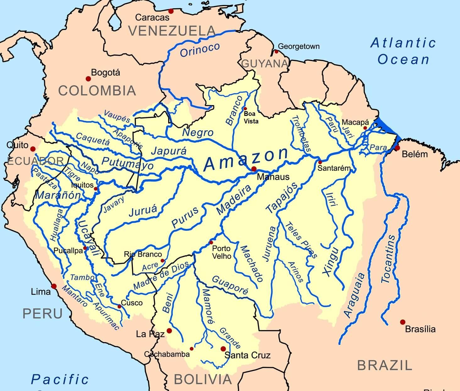 Mapa: cuenca del río Amazonas